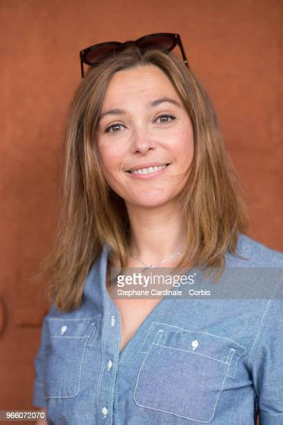 Sandrine Quetier attends the 2018 French Open Day Seven at Roland Garros on June 2 2018 in Paris France
