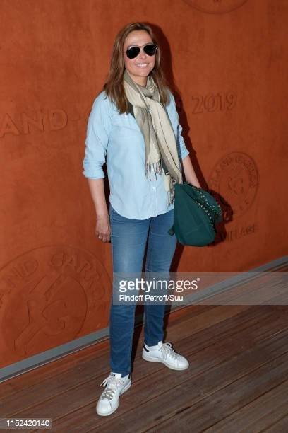 Sandrine Quetier attends the 2019 French Tennis Open Day Four at Roland Garros on May 29 2019 in Paris France