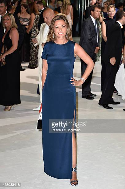 Sandrine Quetier attends the 66th Monaco Red Cross Ball Gala at Sporting MonteCarlo on August 1 2014 in MonteCarlo Monaco