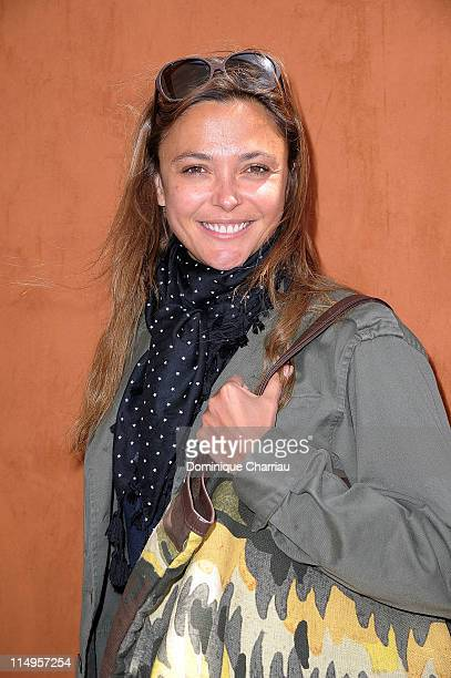 Sandrine Quetier attends the French Open at Roland Garros on May 31 2011 in Paris France