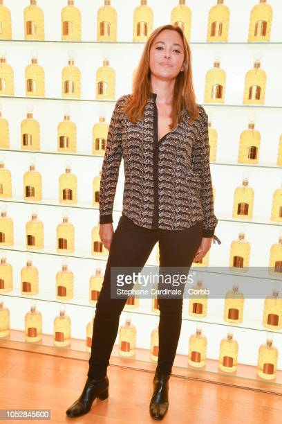 Sandrine Quetier attends the Le Coq Sportif x Guerlain launch collection at Maison Guerlain on ChampsElysees Avenue on October 23 2018 in Paris France