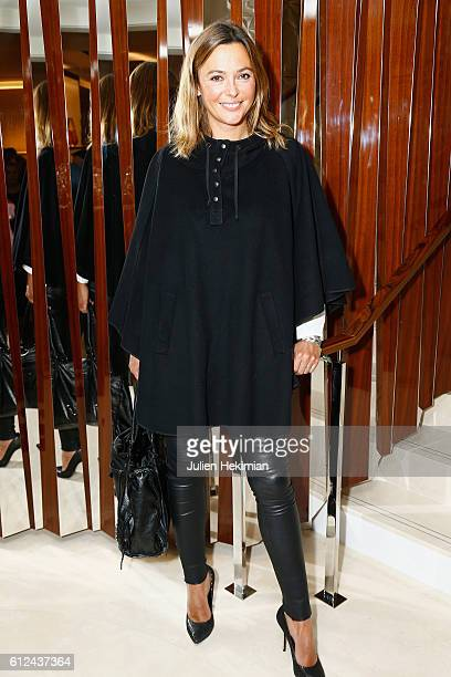 Sandrine Quetier attends the Lonchamp Cocktail as part of the Paris Fashion Week Womenswear Spring/Summer 2017 at Longchamp Boutique St Honore on...