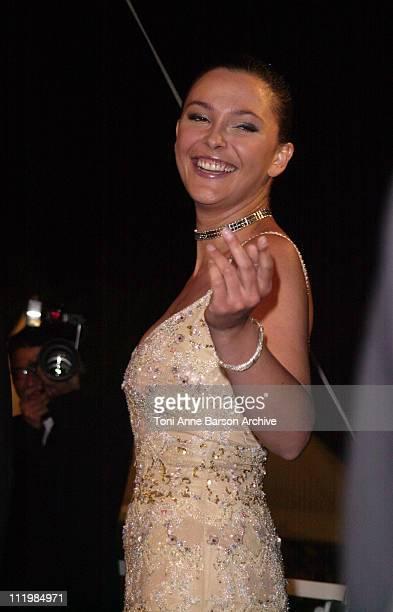 Sandrine Quetier during Cannes 2002 About Schmidt Premiere at Palais des Festivals in Cannes France