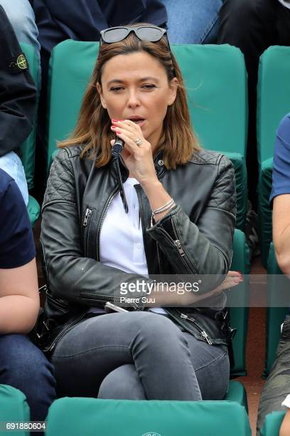 Sandrine Quetier is spotted at Roland Garros on June 3 2017 in Paris France