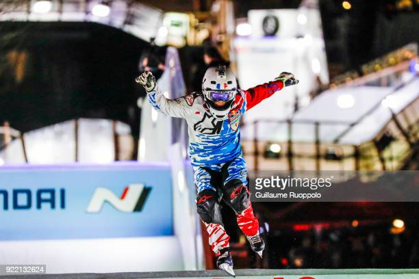 Sandrine Rangeon during the Red Bull Crashed Ice Marseille 2018 on February 17 2018 in Marseille France