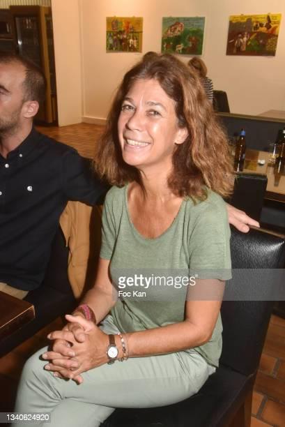 "Sandrine Taddei attends ""Le Cinema De Benoit Delepine Et Gustave Kervern"" Book Signing Party At Halle Saint Pierre on September 15, 2021 in Paris,..."
