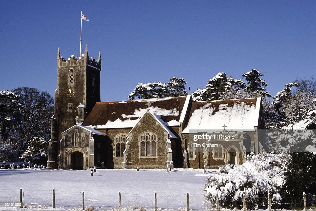 Sandringham Church : News Photo