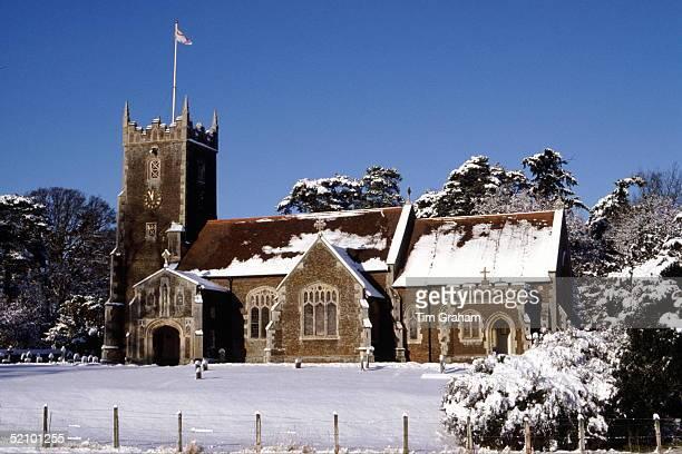 Sandringham Church In The Snow
