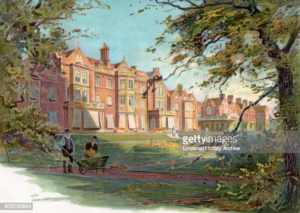 Sandringham House Norfolk England in the 19th century From The Century Edition of Cassell's History of England published c 1900