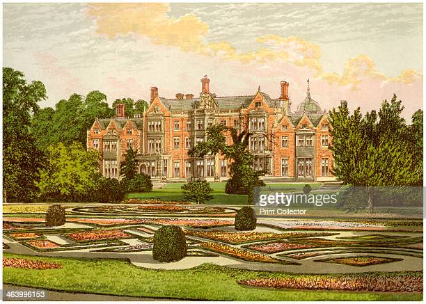 Sandringham Norfolk home of the Prince of Wales c1880 Sandringham was built for Albert Prince of Wales eldest son of Queen Victoria and later King...