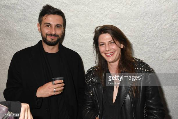 """Sandro Borel and Alexandra Utzmann attend """"Attachiante"""" Chanez Concert and Birthday Party at Sentier des Halles Club on May 2, 2017 in Paris, France."""