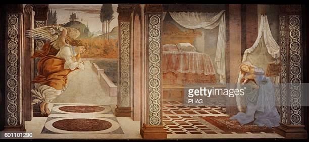 Sandro Botticelli Italian painter Early Renaissance The Annunciation 1481 Fresco The Uffizi Gallery Florence Italy