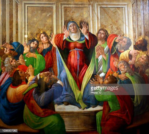 Sandro Botticelli The Descent of the Holy Ghost Date Unknown Birmingham Museum of Art Heavily restored in the 19th century the painting commemorates...