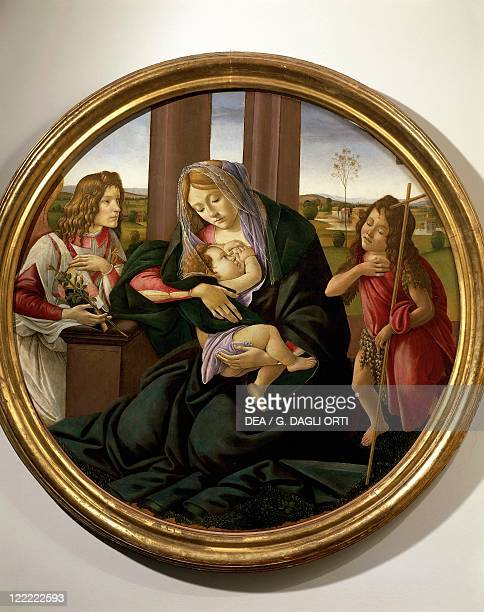 Sandro Botticelli The Virgin and Child with Infant Saint John the Baptist and Archangel Gabriel