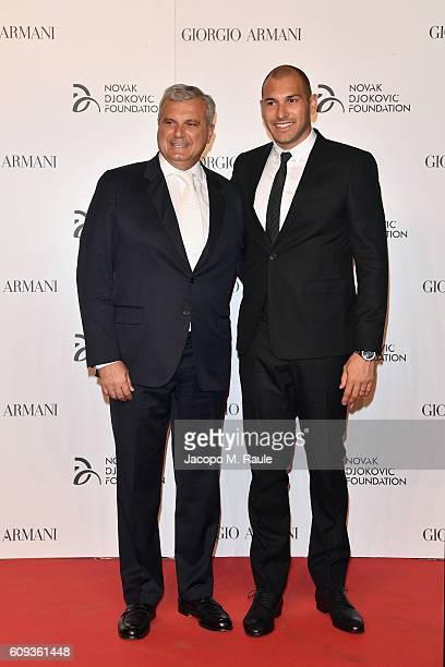 Sandro Campagna and Pietro Figlioli attend the Milano Gala Dinner benefitting the Novak Djokovic Foundation presented by Giorgio Armani at Castello...