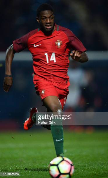 Sandro Cruz of Portugal 17s in action during the International Match between England U17 and Portugal U17 at Proact Stadium on November 8 2017 in...