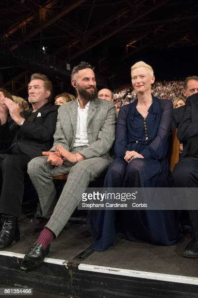 Sandro Kopp and Tilda Swinton attend the Opening Ceremony of the 9th Film Festival Lumiere on October 14 2017 in Lyon France