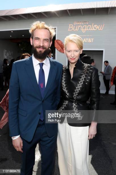 Sandro Kopp and Tilda Swinton attends the 2019 Film Independent Spirit Awards on February 23, 2019 in Santa Monica, California.