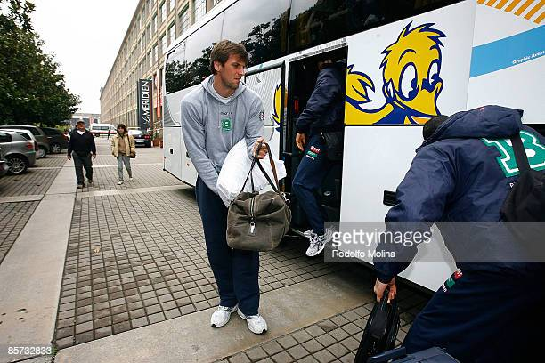 Sandro Nicevic #10 of Benetton Basket Arrival at the Palasport on March 31 2009 in Turin Italy