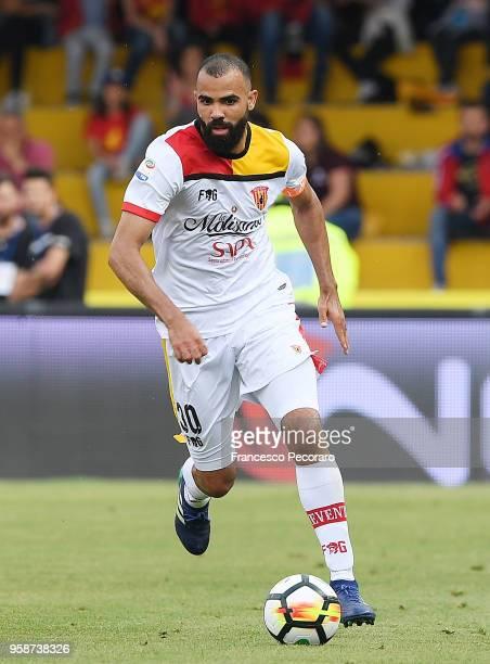 Sandro of Benevento Calcio in action during the serie A match between Benevento Calcio and Genoa CFC at Stadio Ciro Vigorito on May 12 2018 in...