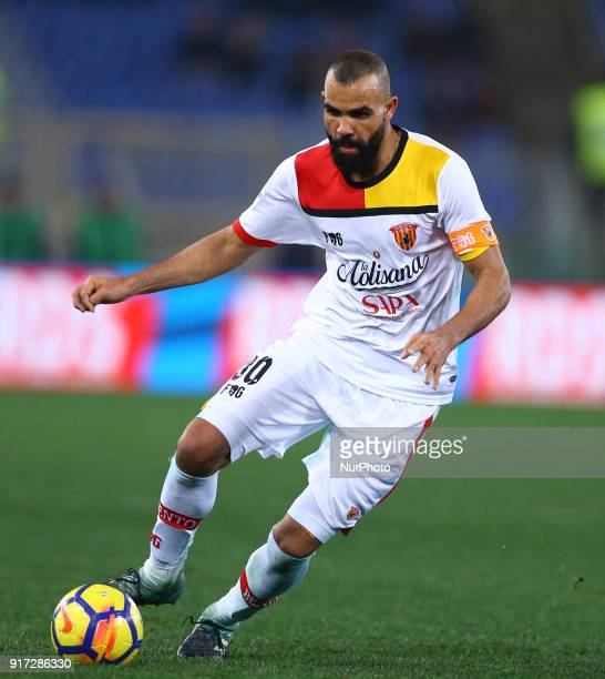 Sandro of Benevento during the serie A match between AS Roma and Benevento Calcio at Stadio Olimpico on February 11 2018 in Rome Italy
