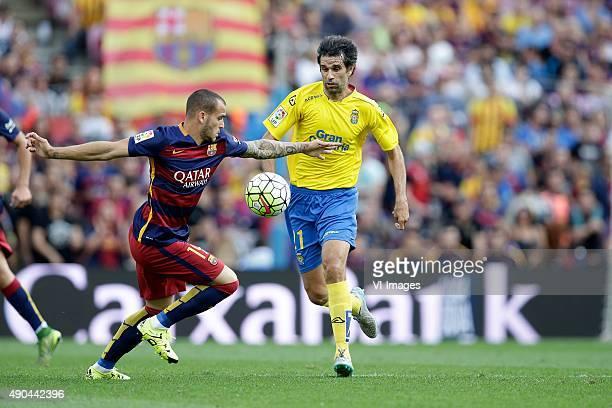 Sandro of FC Barcelona Juan Carlos Valeron of Las Palmas during the Primera Division match between FC Barcelona and Las Palmas on September 26 2015...