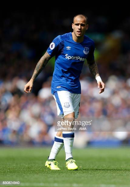 Sandro Ramirez of Everton during the Premier League match between Everton and Stoke City at Goodison Park on August 12 2017 in Liverpool England