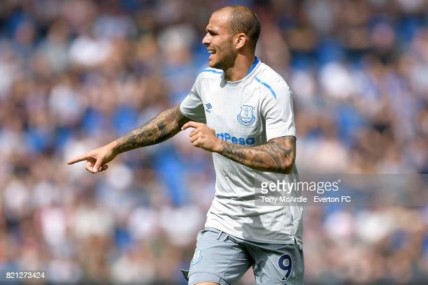 Sandro Ramirez of Everton during the preseason friendly match between KRC Genk and Everton FC on July 22 2017 in Genk Belgium