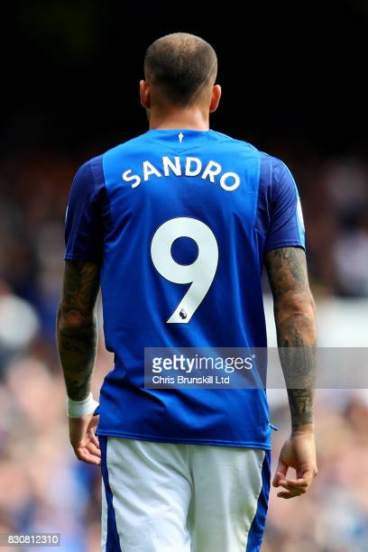 Sandro Ramirez of Everton looks on during the Premier League match between Everton and Stoke City at Goodison Park on August 12 2017 in Liverpool...