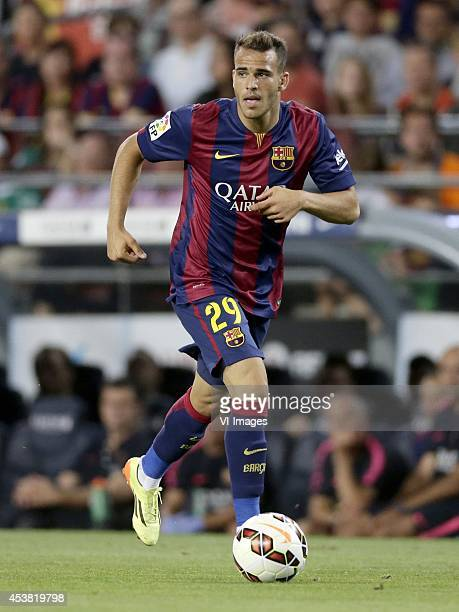 Sandro Ramirez of FC Barcelona during the Joan Gamper Trophy match between FC Barcelona and Leon FC at Camp Nou on august 18 2014 in Barcelona Spain