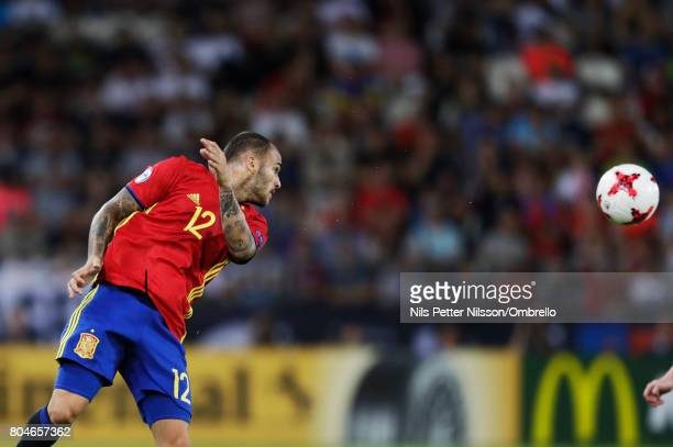 Sandro Ramírez of Spain during the UEFA U21 Final match between Germany and Spain at Krakow Stadium on June 30 2017 in Krakow Poland