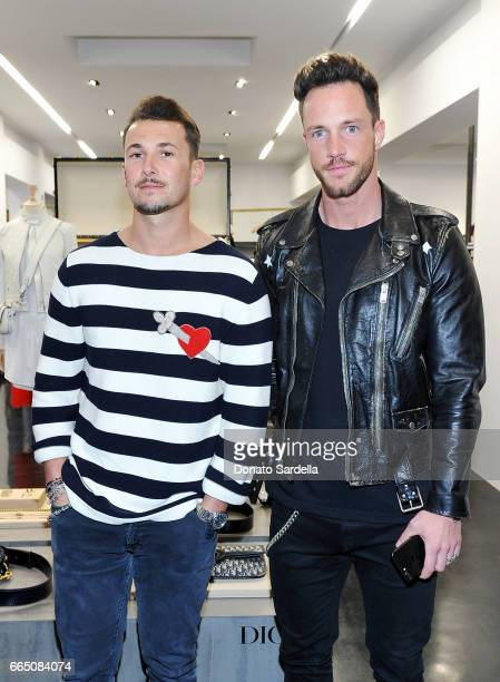 Sandro Rasa and Daniel Fuchs attend DIOR SS17 Collection Launch at Maxfield on April 5 2017 in Los Angeles California