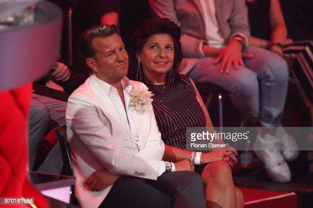 Sandro Rath and Babette Albrecht during the finals of the 11th season of the television competition 'Let's Dance' on June 8 2018 in Cologne Germany