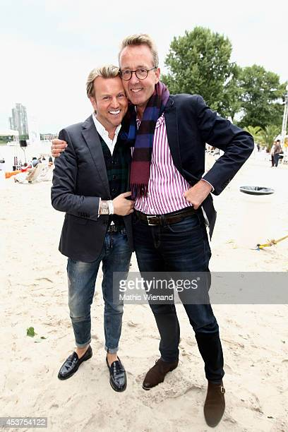 Sandro Rath and Holger Roever attends the Land Rover Public Chill 2014 at km689 on August 17 2014 in Cologne Germany