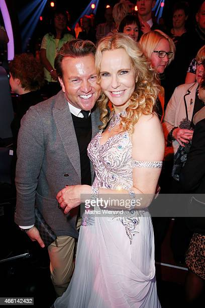 Sandro Rath and Katja Burkard attend the 1st show of the television competition 'Let's Dance' on March 13, 2015 in Cologne, Germany.