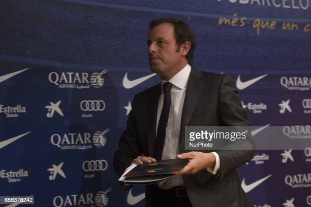 Sandro Rosell former president of FC Barcelona in a file image of 2014 in Barcelona Spain