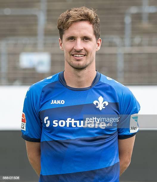 Sandro Sirigu poses during the Darmstadt 98 Team Presentation on August 11 2016 in Darmstadt Germany