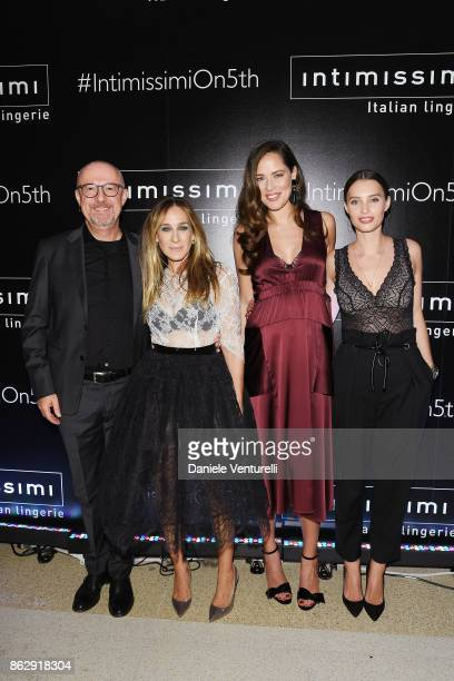 Sandro Veronesi Sarah Jessica Parker Ana Ivanovic and Ella Mills attend the Intimissimi Grand Opening on October 18 2017 in New York United States