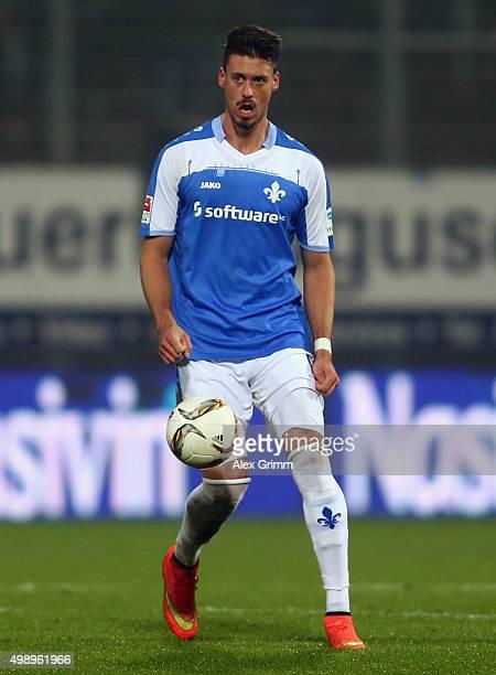 Sandro Wagner of Darmstadt co during the Bundesliga match between SV Darmstadt 98 and 1 FC Koeln at MerckStadion am Boellenfalltor on November 27...