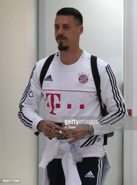 Sandro Wagner of FC Bayern Muenchen arrives at the players' tunnel for the Bundesliga match between FC Bayern Muenchen and Werder Bremen at Allianz...