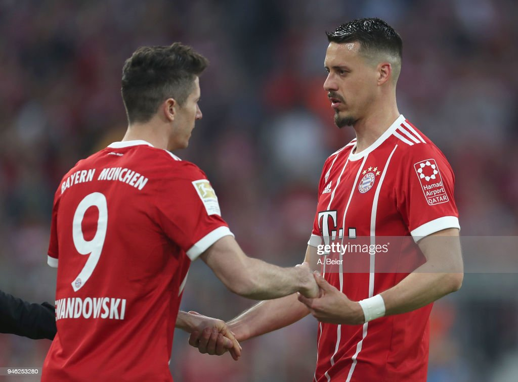 Sandro Wagner Of Fc Bayern Muenchen Is Exchanged By His Teammate