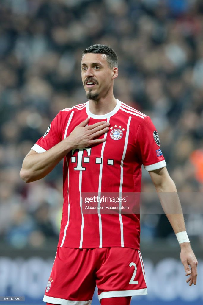 Sandro Wagner of FC Bayern Muenchen reacts during the UEFA Champions League Round of 16 Second Leg match Besiktas and Bayern Muenchen at Vodafone Park on March 14, 2018 in Istanbul, Turkey.