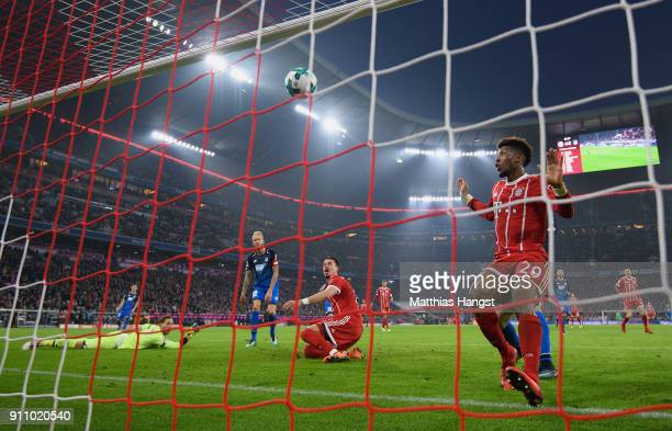 Sandro Wagner of FC Bayern Muenchen scores his team's fifth goal during the Bundesliga match between FC Bayern Muenchen and TSG 1899 Hoffenheim at...