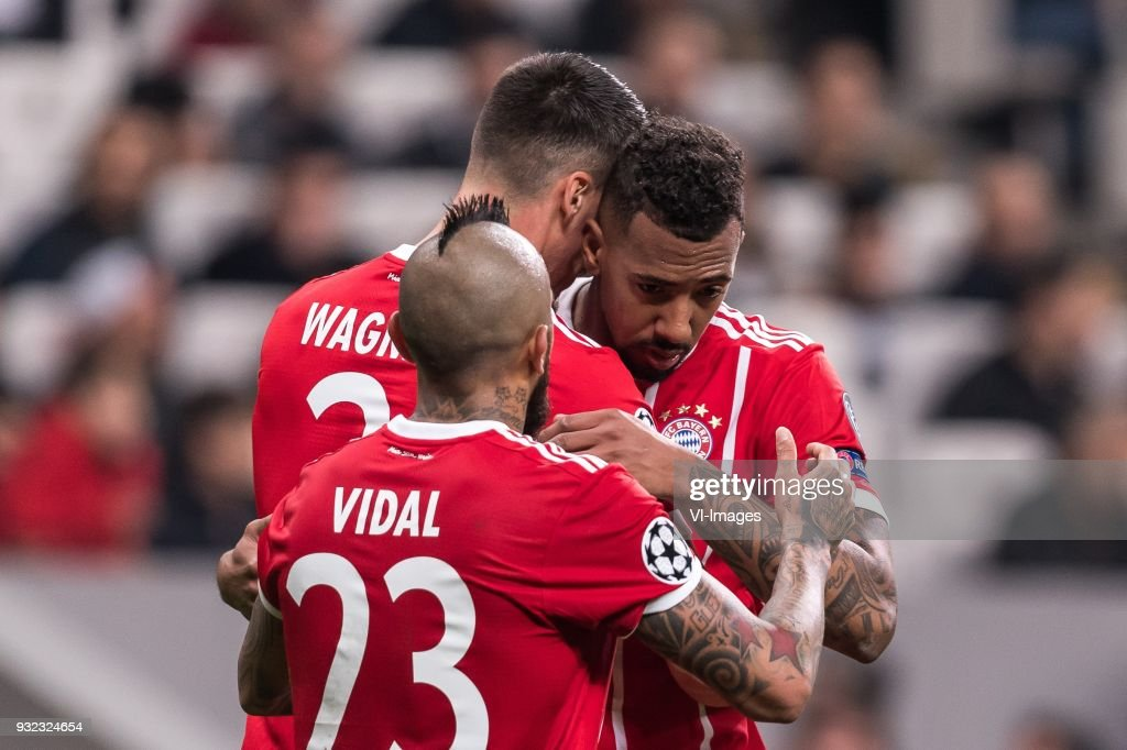 Sandro Wagner Of Fc Bayern Munich Arturo Vidal Of Fc Bayern Munich