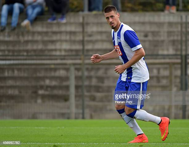 Sandro Wagner of Hertha BSC during the friendly match between Hertha BSC and Erzgebirge Aue on october 10, 2014 in Berlin, Germany.