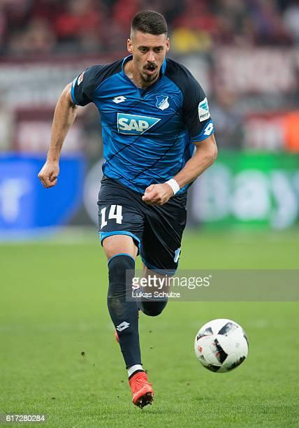 Sandro Wagner of Hoffenheim in action during the Bundesliga match between Bayer 04 Leverkusen and TSG 1899 Hoffenheim at BayArena on October 22 2016...