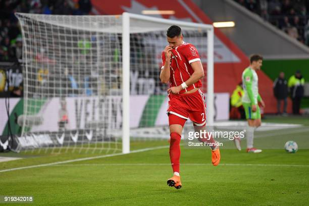 Sandro Wagner of Muenchen celebrates after he scored a goal to make it 11 during the Bundesliga match between VfL Wolfsburg and FC Bayern Muenchen at...