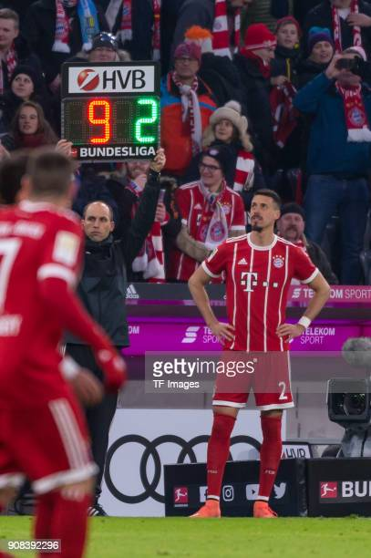 Sandro Wagner of Muenchen comes on as a substitute during the Bundesliga match between FC Bayern Muenchen and SV Werder Bremen at Allianz Arena on...