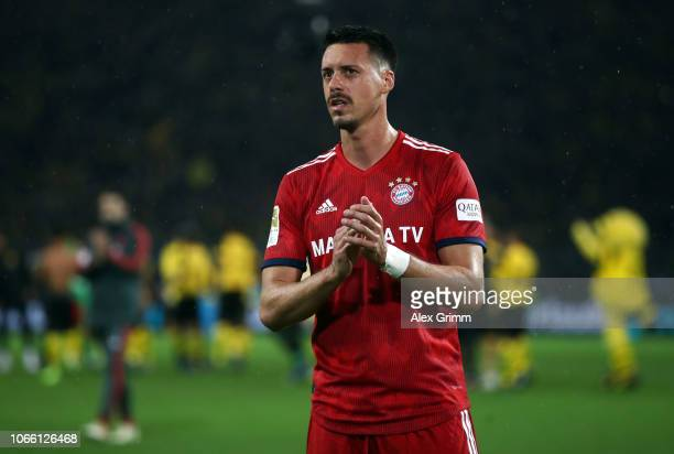 Sandro Wagner of Muenchen reacts after the Bundesliga match between Borussia Dortmund and FC Bayern Muenchen at Signal Iduna Park on November 10 2018...