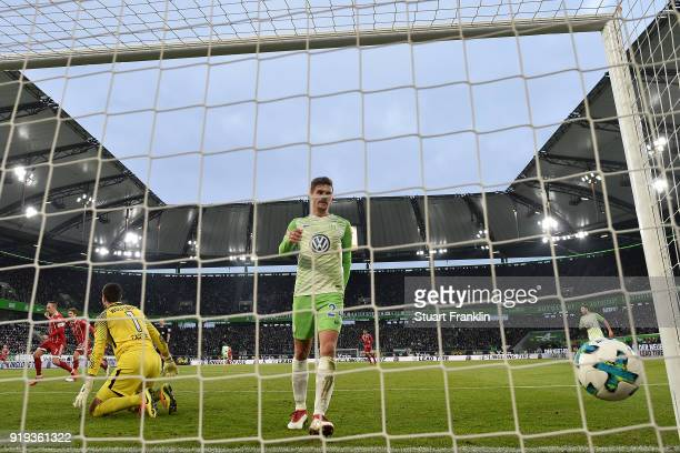 Sandro Wagner of Muenchen scores a goal to make it 11 during the Bundesliga match between VfL Wolfsburg and FC Bayern Muenchen at Volkswagen Arena on...